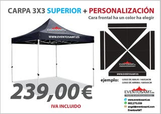 carpa superior 3x3 personalizada