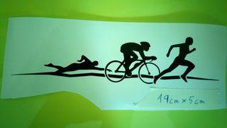 pegatina triatlon