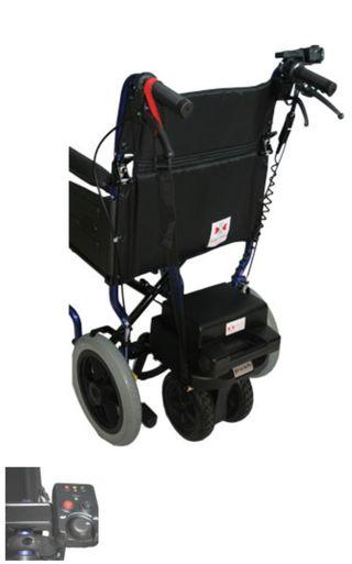 Ayuda motor silla de ruedas con silla incluída