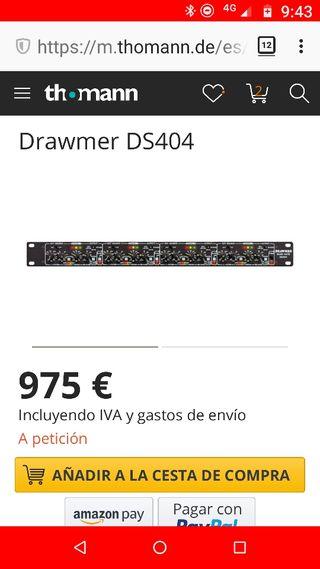 Drawmer DS404 (puerta de ruido y HPF cuádruple)