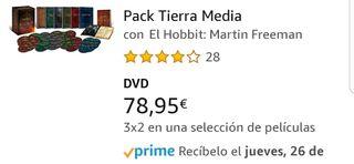 Trilogía Hobbit y Señor de los Anillos extendidas