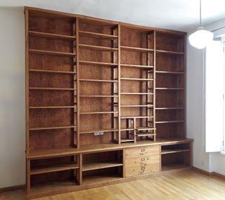 Mueble librería artesanal madera maciza