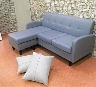 Sofá-chaise-longue *170x120cm [YA-6037] *Gris