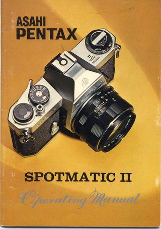 MANUAL DE USUARIO ASAHI PENTAX SPOTMATIC II