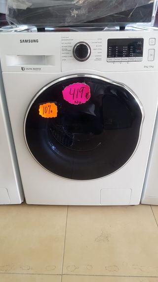 Lavadora secadora Samsung WD80J5430AW CRYSTAL CARE