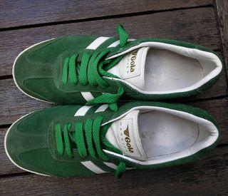 Zapatillas Gola verdes y blancas