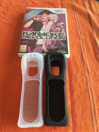 2 fundas de mando Wii + juego Karaoke