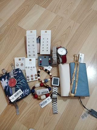 pendientes+collares+ relojes+pulseras