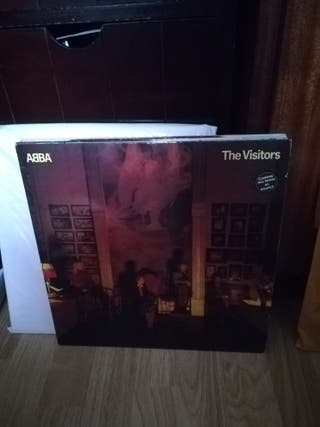 vinilo de Abba. the visitor