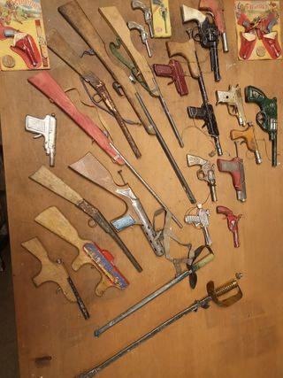lote completo de armas de juguete del año 1940