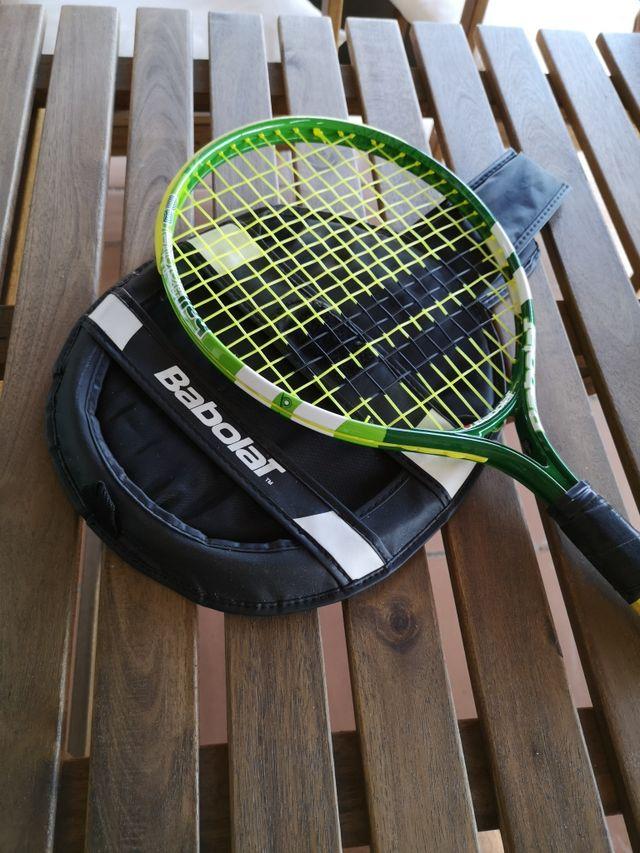 Raqueta de tenis niño con funda