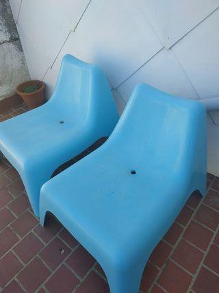 Dos sillones de jardín Ikea