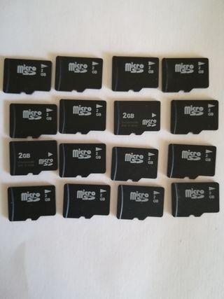 lote 15 tarjetas memoria