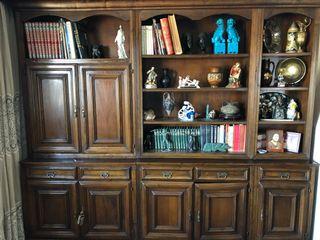 Librería de madera noble.