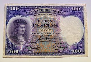 Billete 100 Pesetas 1931 Republica