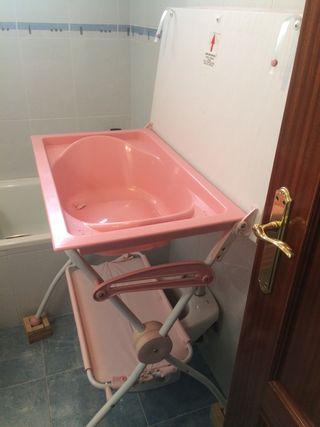 Bañera y cambiador plegable