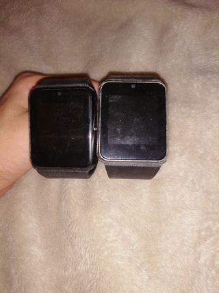vendo 2 smart watch (para piezas) presión juntos,