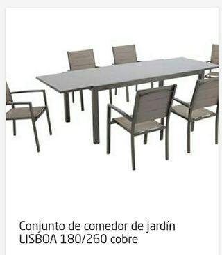 pérgola - cenador y mesa de jardín