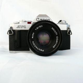 CAMARA CANON AV-1+OBJETIVO PENTACON 50MM f1.8