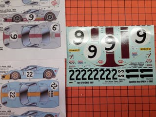 CALCA FORD GT 40 STUDIO27 MAQUETA ESCALA 1/24