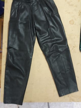 pantalon piel mujer