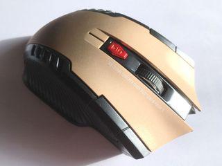 Ratón dorado inalámbrico USB Nuevo