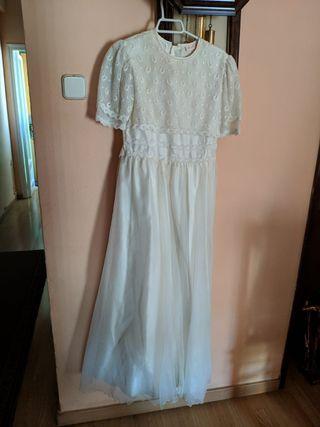 vestido de comunión talla 12 aprox