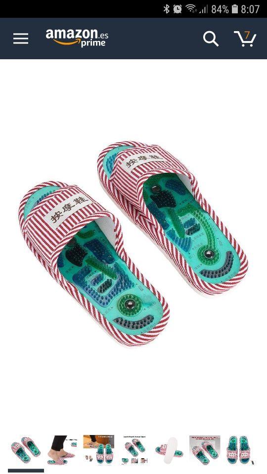 zapatillas shiatsu masaje nuevas sin estrenar