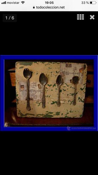 Decorativo cuadro de cucharas