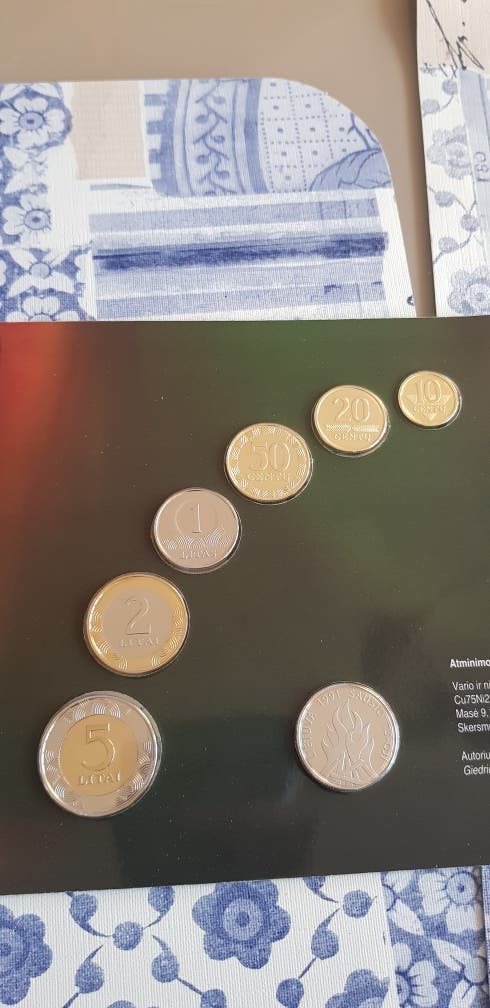 cartera monedas Lituania antes del euro