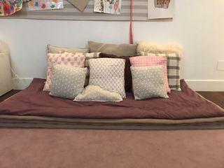 Colchón de suelo de algodón gris 90*190