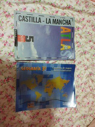 Atlas y libros de geografía