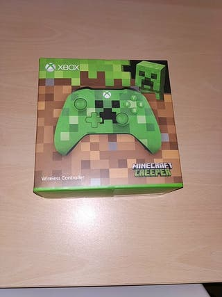 Caja mando Xbox one Minecraft Verde