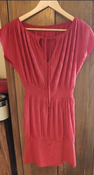 vestido rojo mujer.