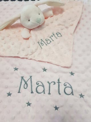 Pack Manta + doudou personalizada