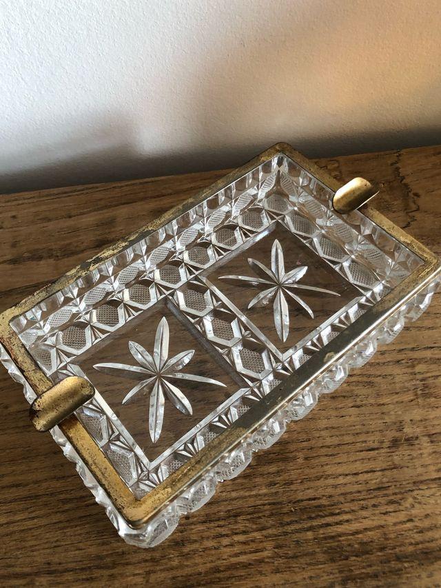 Cenicero vintage cristal