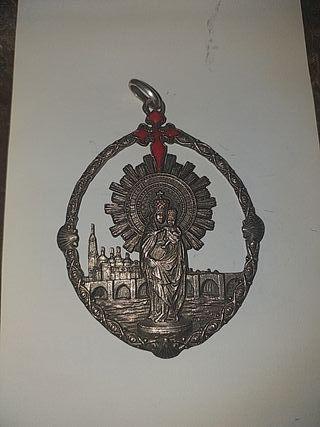 medalla de plata de la virgen del Pilar