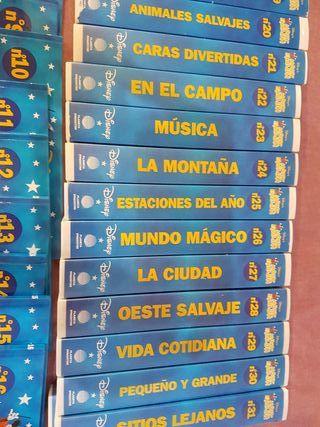 colección videos y libros en ingles