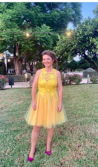 Vestido fiesta. Silvia Navarro