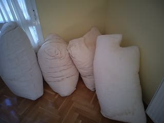 cojines de pluma para fundas de sofa