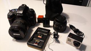 NIKON D610 + objetivos +batería+tarjetas+wifi