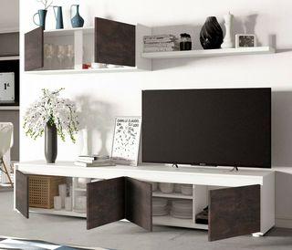 Conjunto salon mueble TV mesa centro comedor estil