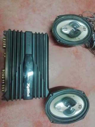 altavoces 300w y tapa de potencia Sony de 1000w