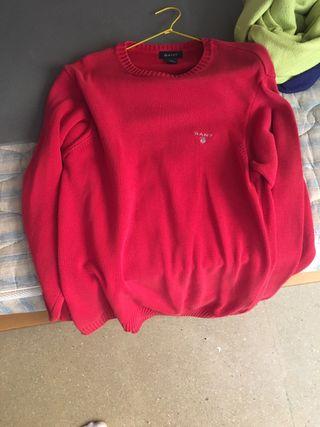 Jersey Gant rojo talla L
