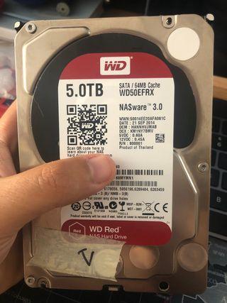 DISCOS DUROS NAS WD RED 5 TB
