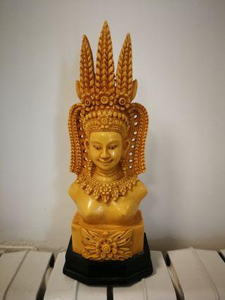 Escultura en composite de un buda (Birmania)