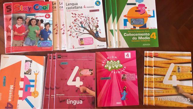 LIBROS 4 PRIMARIA SEMINUEVOS Y FORRADOS