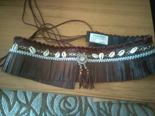 Cinturón marrón boho