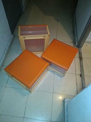 Cajas apilables, cajón extraible