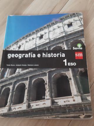 LIBRO DE GEOGRAFIA E HISTORIA DE 1 DE LA ESO